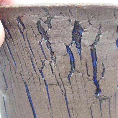 Ceramic bonsai bowl 14 x 14 x 13.5 cm, color blue - 2