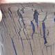 Ceramic bonsai bowl 14 x 14 x 13.5 cm, color blue - 2/3