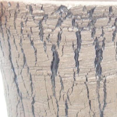 Ceramic bonsai bowl 12 x 12 x 10 cm, color black - 2