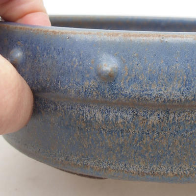 Ceramic bonsai bowl 16.5 x 16.5 x 5.5 cm, color blue - 2