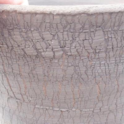 Ceramic bonsai bowl 14 x 14 x 13 cm, gray color - 2