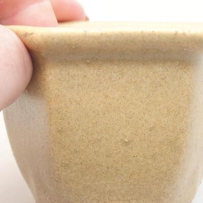 Mini bonsai bowl 7 x 6 x 5 cm, beige color - 2