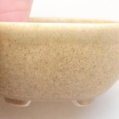 Mini bonsai bowl 4 x 4 x 1.5 cm, beige color - 2