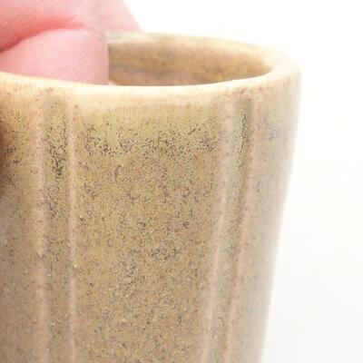 Mini bonsai bowl 3.5 x 3.5 x 4 cm, beige color - 2