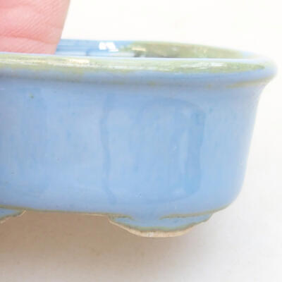 Mini bonsai bowl 4 x 3.5 x 1.5 cm, color blue - 2