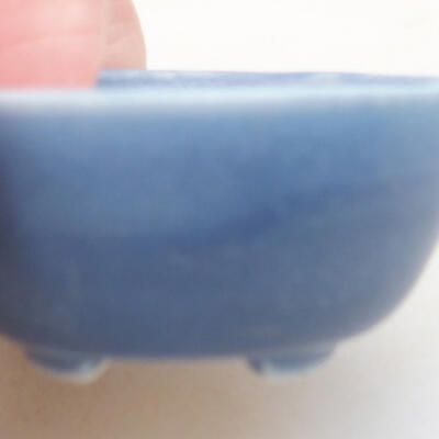 Mini bonsai bowl 3.5 x 3.5 x 2 cm, color blue - 2