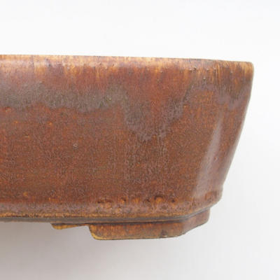 Ceramic bonsai bowl 24 x 21 x 6.5 cm, brown color - 2