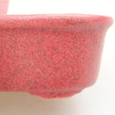 Mini bonsai bowl 4 x 3 x 2 cm, color red - 2