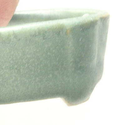 Mini bonsai bowl 4 x 2.5 x 1.5 cm, color green - 2