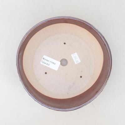 Ceramic bonsai bowl 17.5 x 17.5 x 5 cm, brown color - 2