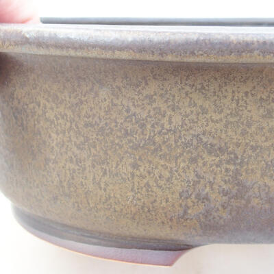 Ceramic bonsai bowl 24 x 20 x 7.5 cm, gray color - 2
