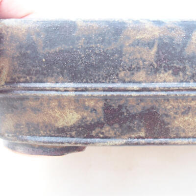 Ceramic bonsai bowl 23.5 x 18 x 7 cm, color brown-gray - 2