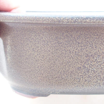 Ceramic bonsai bowl 23 x 20 x 7 cm, color gray - 2