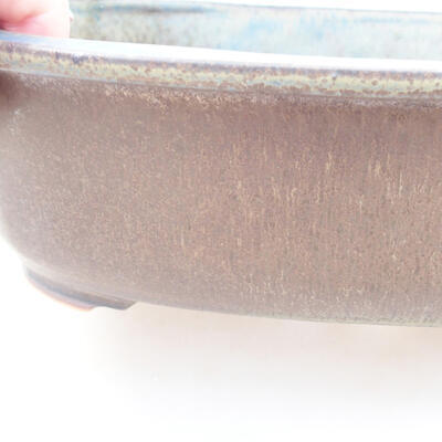 Ceramic bonsai bowl 23 x 20 x 7 cm, color gray - 2