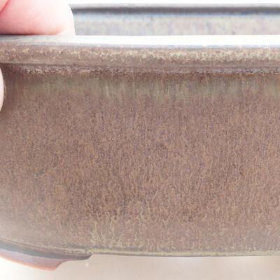 Ceramic bonsai bowl 20.5 x 16.5 x 7 cm, gray color - 2