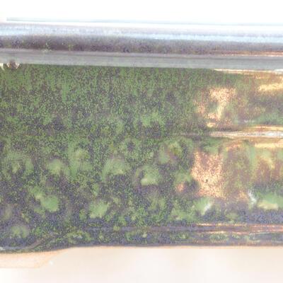 Ceramic bonsai bowl 20.5 x 15 x 7 cm, color green - 2