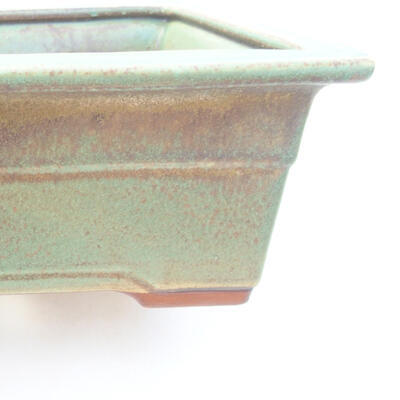 Ceramic bonsai bowl 18 x 13 x 7 cm, color green - 2