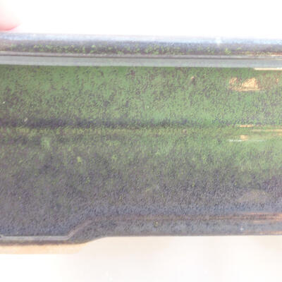 Ceramic bonsai bowl 18 x 13 x 7 cm, color green - 2