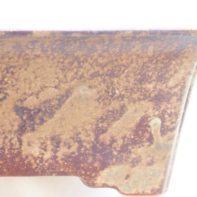 Ceramic bonsai bowl 17.5 x 14 x 7 cm, brown color - 2