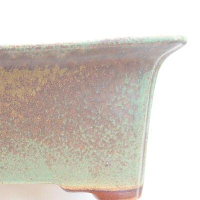 Ceramic bonsai bowl 17.5 x 14 x 7 cm, color green - 2