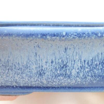Ceramic bonsai bowl 17 x 13.5 x 4.5 cm, color blue - 2