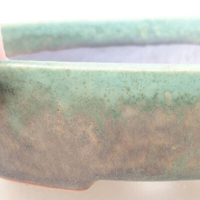 Ceramic bonsai bowl 17 x 14 x 4 cm, color green - 2