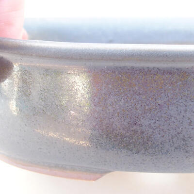 Ceramic bonsai bowl 18 x 14 x 4.5 cm, gray color - 2