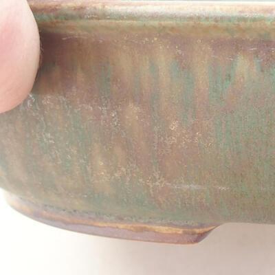 Ceramic bonsai bowl 21 x 16.5 x 4.5 cm, color brown-green - 2