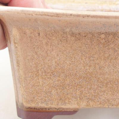 Ceramic bonsai bowl 17.5 x 14 x 6.5 cm, brown color - 2