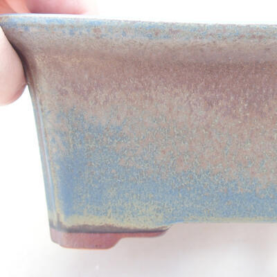 Ceramic bonsai bowl 17.5 x 14 x 6.5 cm, color blue - 2