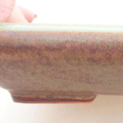 Ceramic bonsai bowl 15.5 x 12 x 3.5 cm, color green - 2