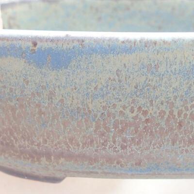 Ceramic bonsai bowl 12.5 x 9 x 3.5 cm, color blue-gray - 2
