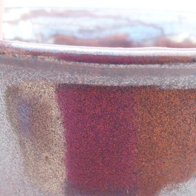 Ceramic bonsai bowl 13 x 11 x 5.5 cm, brown color - 2