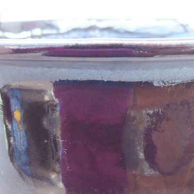 Ceramic bonsai bowl 13 x 11 x 5.5 cm, black color - 2