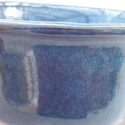 Ceramic bonsai bowl 13 x 11 x 5.5 cm, color blue - 2