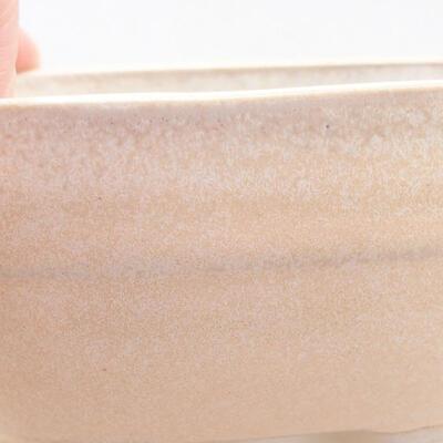 Ceramic bonsai bowl 11.5 x 8 x 5 cm, beige color - 2