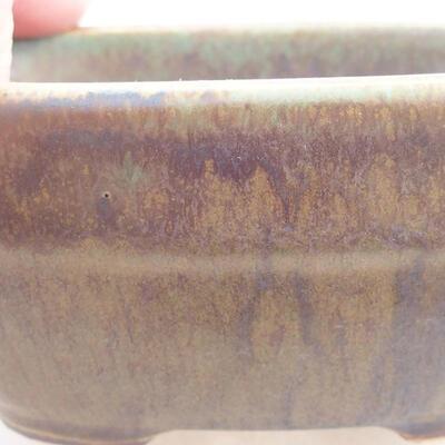 Ceramic bonsai bowl 11.5 x 8 x 5 cm, color green - 2