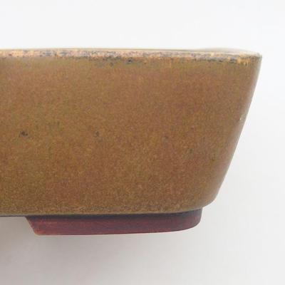 Ceramic bonsai bowl 23.5 x 19 x 5.5 cm, brown color - 2