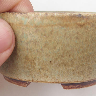 Ceramic bonsai bowl 8 x 7 x 4 cm, color brown-green - 2
