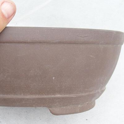 Bonsai bowl 31 x 22 x 10 cm, gray color - 2