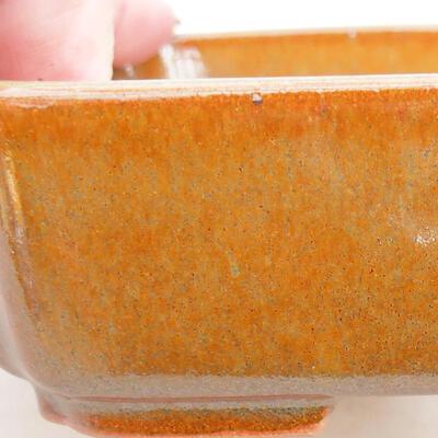 Ceramic bonsai bowl 14.5 x 11 x 5 cm, brown color - 2