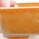 Ceramic bonsai bowl 14.5 x 11 x 5 cm, brown color - 2/2