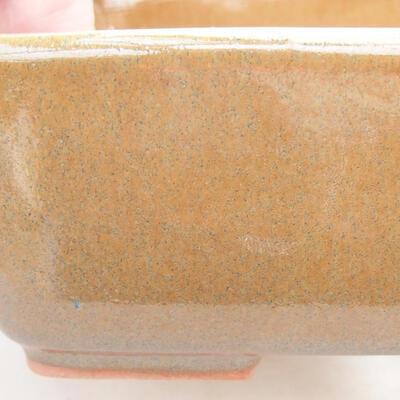 Ceramic bonsai bowl 15 x 10.5 x 5 cm, brown color - 2