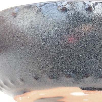 Ceramic bonsai bowl 18 x 18 x 5 cm, color gray - 2