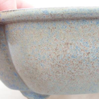 Ceramic bonsai bowl 12 x 10 x 4.5 cm, color blue - 2