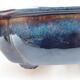 Ceramic bonsai bowl 12 x 10 x 4.5 cm, color blue-black - 2/3