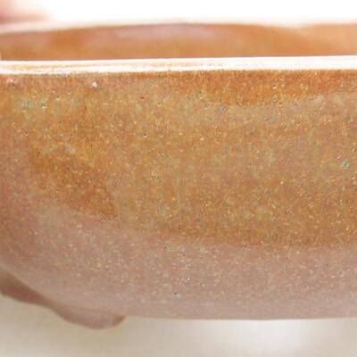 Ceramic bonsai bowl 10 x 8.5 x 3 cm, brown color - 2