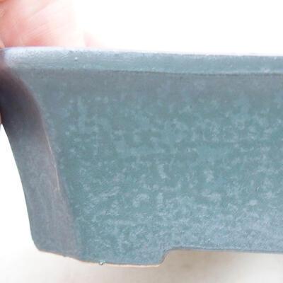 Ceramic bonsai bowl 12.5 x 10 x 4 cm, metal color - 2