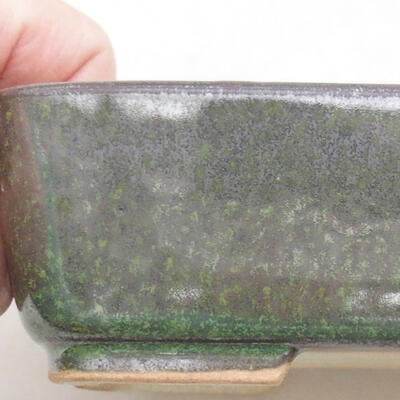 Ceramic bonsai bowl 15.5 x 12.5 x 4.5 cm, color green - 2
