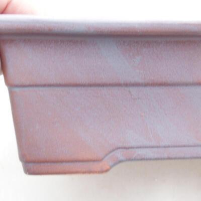 Ceramic bonsai bowl 21 x 15 x 7 cm, gray color - 2